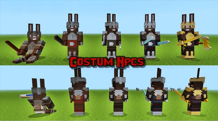 Мод на майнкрафт 1.7.10 custom npc как посадить nps
