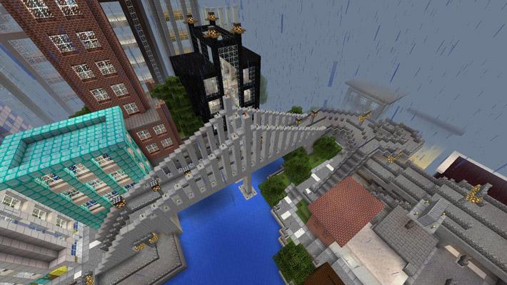 minecraft карта город trashbox