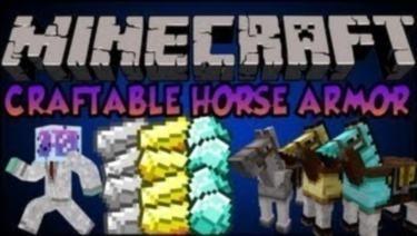 Мод Craftable Horse Armor Mod для Minecraft 1 6 2