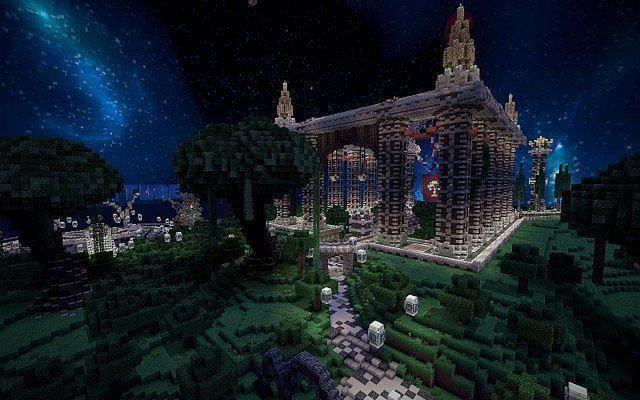 [Map] Спавн с большим замком для Minecraft